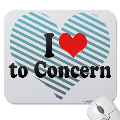 I love to concern mousepad