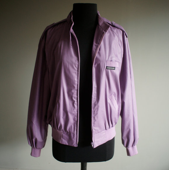 lavender Members Only jacket vintage 1980s