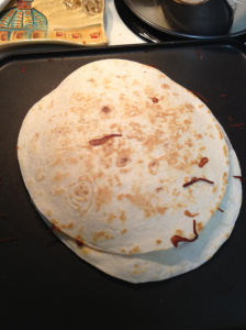 quesadilla on the griddle