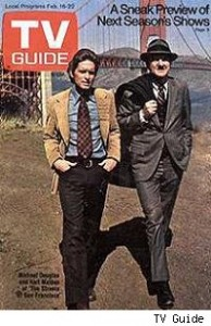 TV Guide cover showing Karl Malden and Michael Douglas