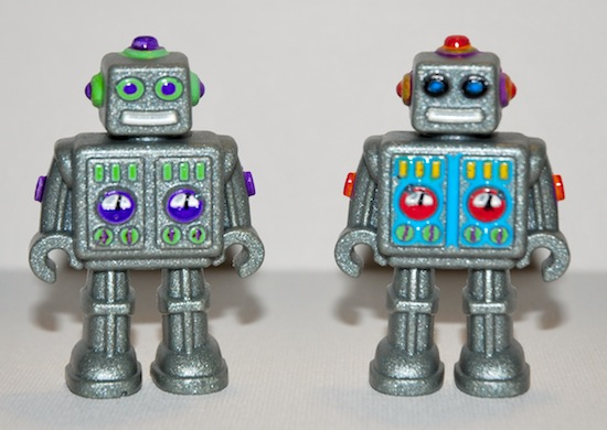 painted resin retro robots