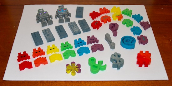 pieces of cast resin