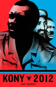 Poster of Joseph Kony, Ugandan Warlord and subject of the Invisible Children KONY 2012 campaign