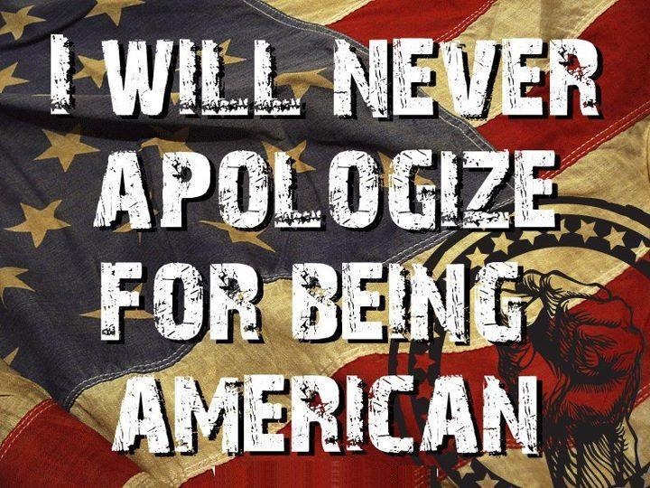 Never apologize!  Never!