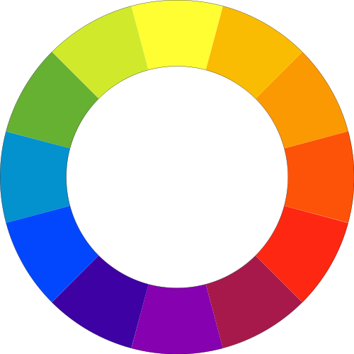 color wheel with secondary and tertiary colors