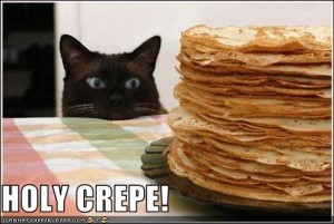 Cats and holy crepes, via photobucket.