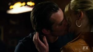 Raylan kissing Ava
