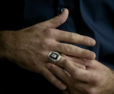 The ring that Alaric wears to protect him from supernatural death.