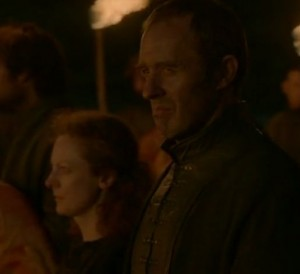 Close up of Stannis looking grim