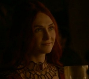 Close up of Melisandre, smiling