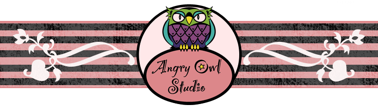Banner ad for Angry Owl Studio Etsy shop.