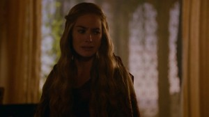 Cersei with tears in her eyes