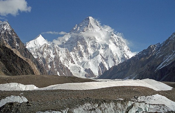 snow-covered mountain K2 in the Karakoram range