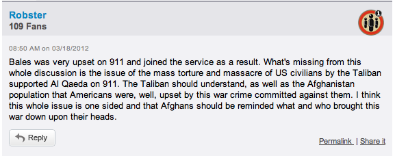 Robert Bales Comment