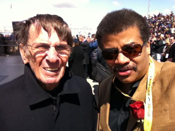 Photo of Neil deGrasse Tyson and Leonard Nimoy