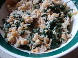 Red Lentils, Kale, Basmati Rice