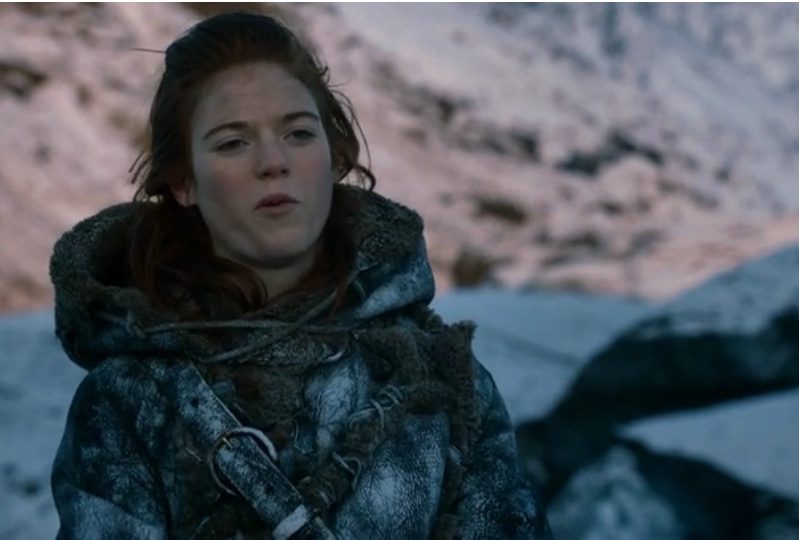 Ygritte makes a superior face at Jon