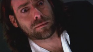 Baltar, looking frightened and intrigued.
