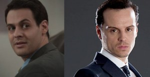 """A screenshot of Andrew Leeds from """"Bones"""" and Andrew Scott from """"Sherlock."""" They look like brothers."""