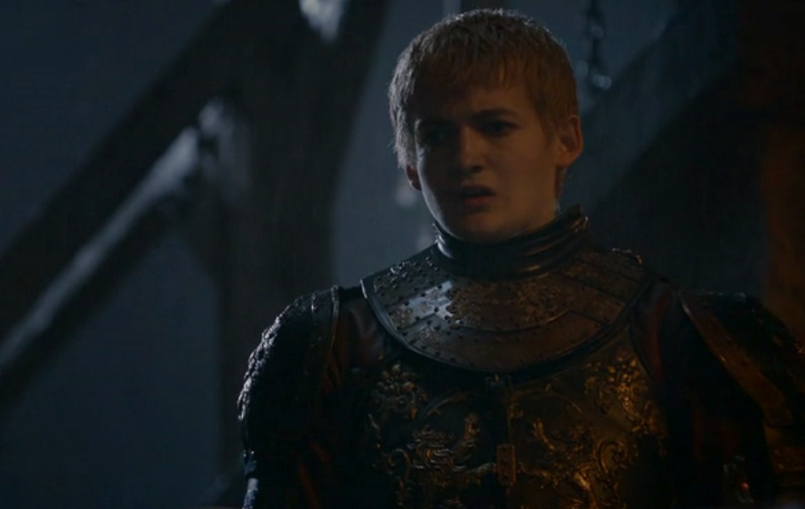 Close up of Joffrey, looking shocked and hurt