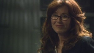 Roslin, smiling and sweet.