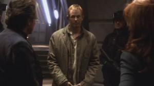 Fenner faces Adama and Roslin