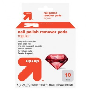 Box of Up & Up Nail Polish Remover Pads from Target