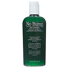 green bottle of GiGi No Bump skin soother for after waxing