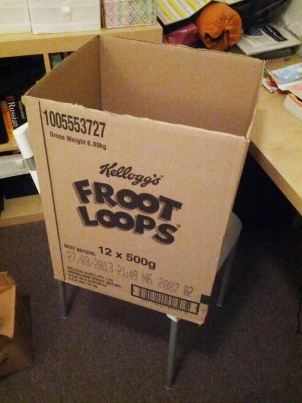 A frootloop box!