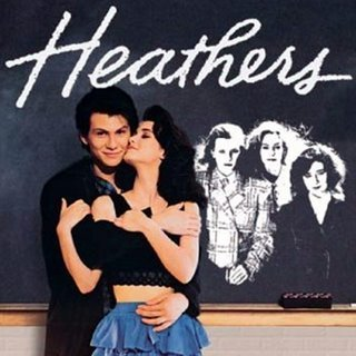Heathers poster, with Winona Ryder and Christian Slater cuddling in ... Heathers The Musical Jd