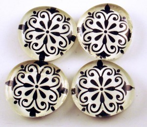 pic of Filigree Glass Magnets with Rare Earth Magnets