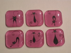 Pic of Fancy Felines Glass Refrigerator Magnets