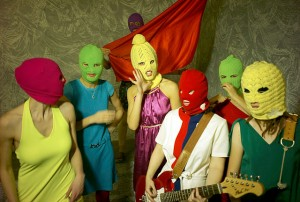 Image of Russian feminist punk band Pussy Riot by Igor Mukhin
