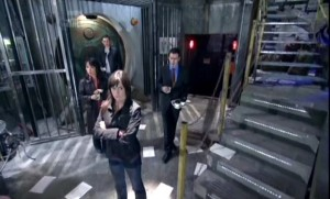 Gwen, Owen, Tosh, and Ianto in the Hub