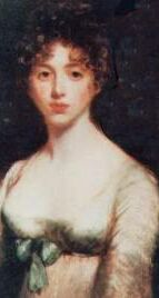 Painting of Lady Caroline Lamb, a young woman in Regency dress