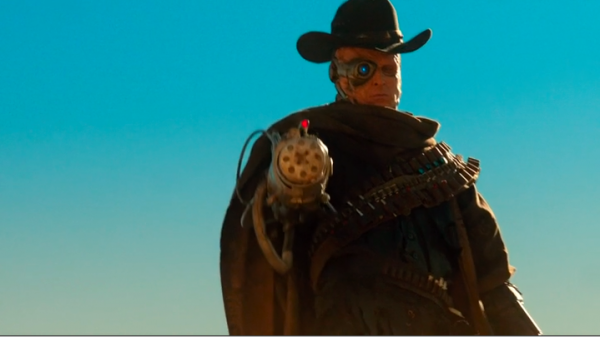 The gunslinger - one eye/side of his face is completely mechanical, and his right arm is all one big weapon.