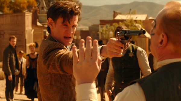 The Doctor, pointing a gun at Jex.