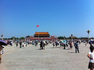 Tourists in Tiananmen Square