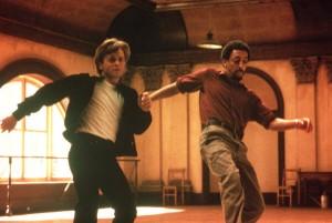 Still shot of Baryshnikov and Hines dancing