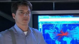 Jack looks somewhat angry. A map behind him shows the chaos spreading out from the Rift.