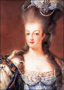 Closeup from Portrait of Marie-Antoinette of Austria by Jean-Baptiste Gautier Dagoty