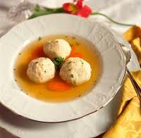 Bowl of matzoh ball soup