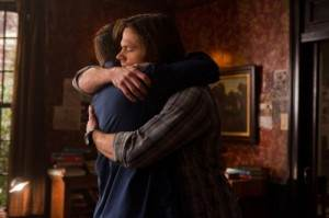 Sam and Dean Winchester, hugging