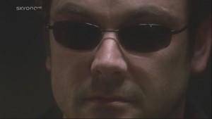 Closeup of Lampkin, wearing sunglasses