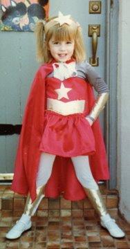 Girl in a she-ra costume