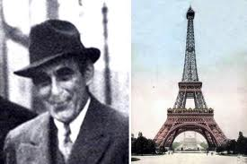 Two frames; Victor Lustig and the Eiffel Tower