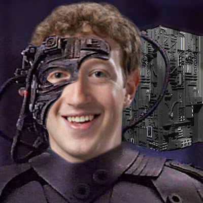 Picture of Mark Zuckerberg as the Borg