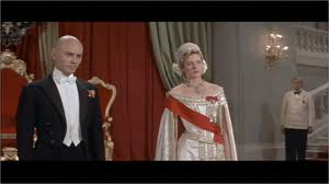Screencap from Anastasia of Anna in a gown and General Bounine in a tuxedo