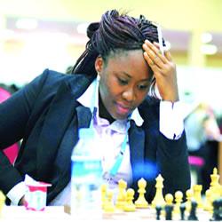 Dr. Nsisong Asanga playing chess