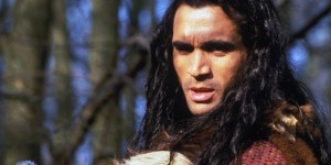 Adrian Paul as the Duncan MacCleod, with long black hair